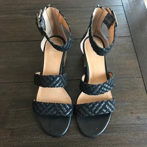 Franco Sarto Black Tate Woven Sandal